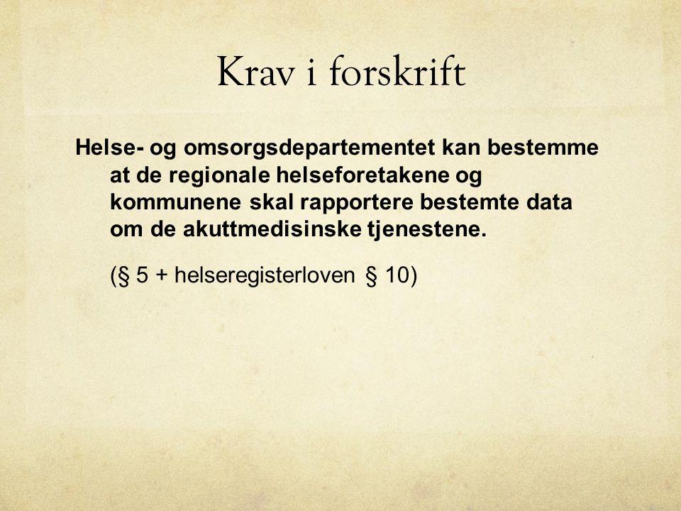 Type hendelse pr 1000 innb Sentral Sykdom somatisk Rus og psykiatri Skade/ ulykke FødselBeredskapAnnet Over- føring Formidl.