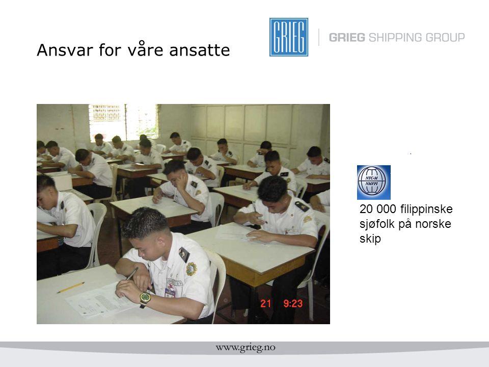 Ansvar for våre ansatte 20 000 filippinske sjøfolk på norske skip