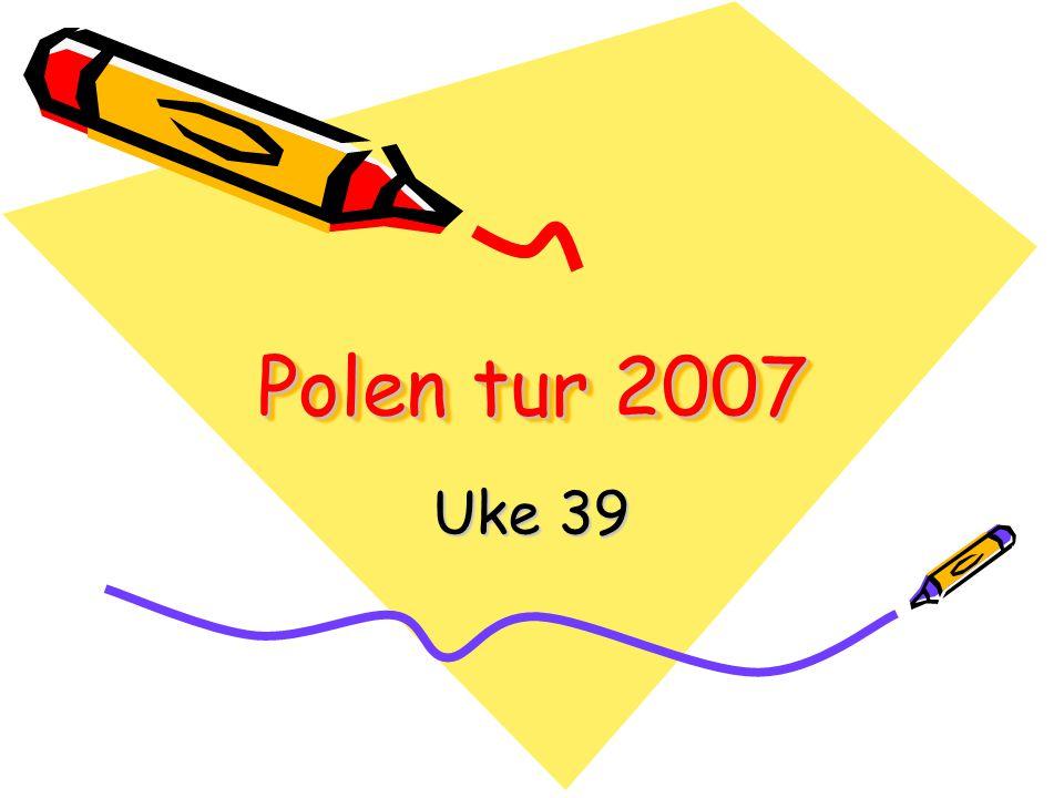 Avreise Søndag 23/9 Oppmøte kl 07.30 Skolen Vi pakker buss og lignende Setter opp liste med hvem som sitter hvor.