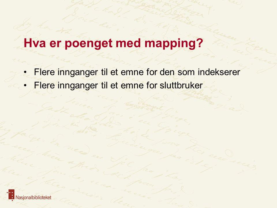 Hva er poenget med mapping.