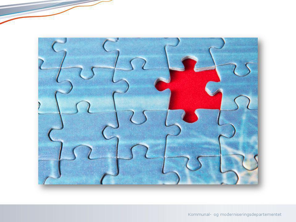 Kommunal- og moderniseringsdepartementet Norsk mal: To innholdsdeler - Sammenlikning Tips farger: KRDs fargepalett er lagt inn i malen og vil brukes automatisk i diagrammer og grafer 5