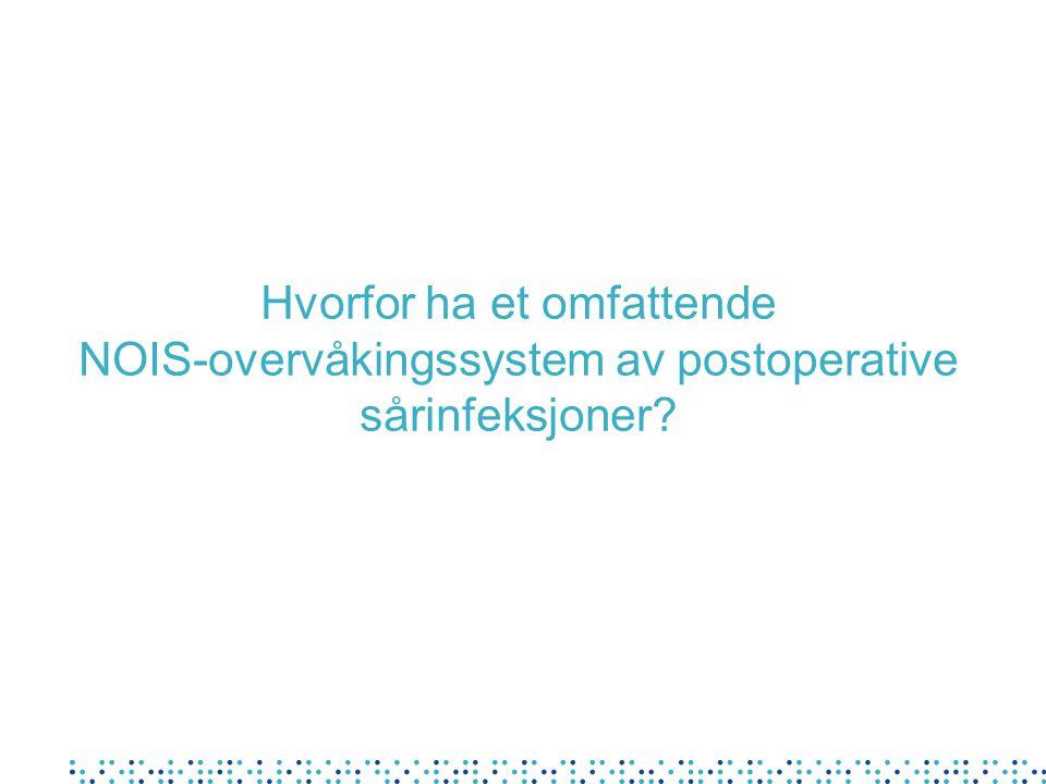 Hvorfor ha et omfattende NOIS-overvåkingssystem av postoperative sårinfeksjoner?
