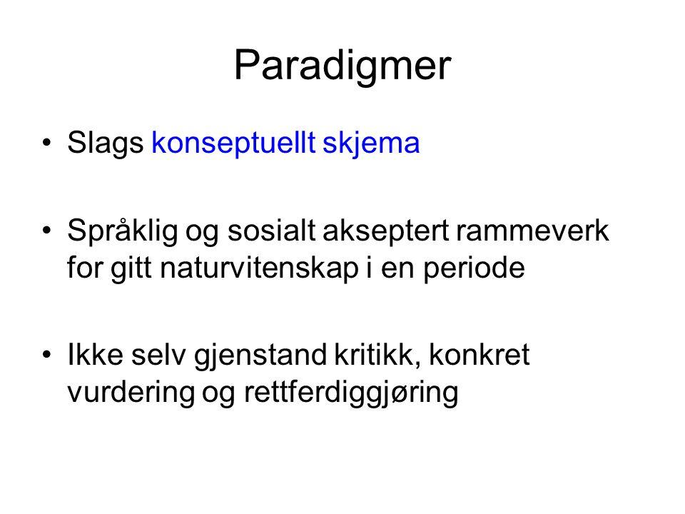 (2) Koherens.Hvis (1), hvordan kan Kuhn snakke om og sammenligne paradigmer i sin teori.