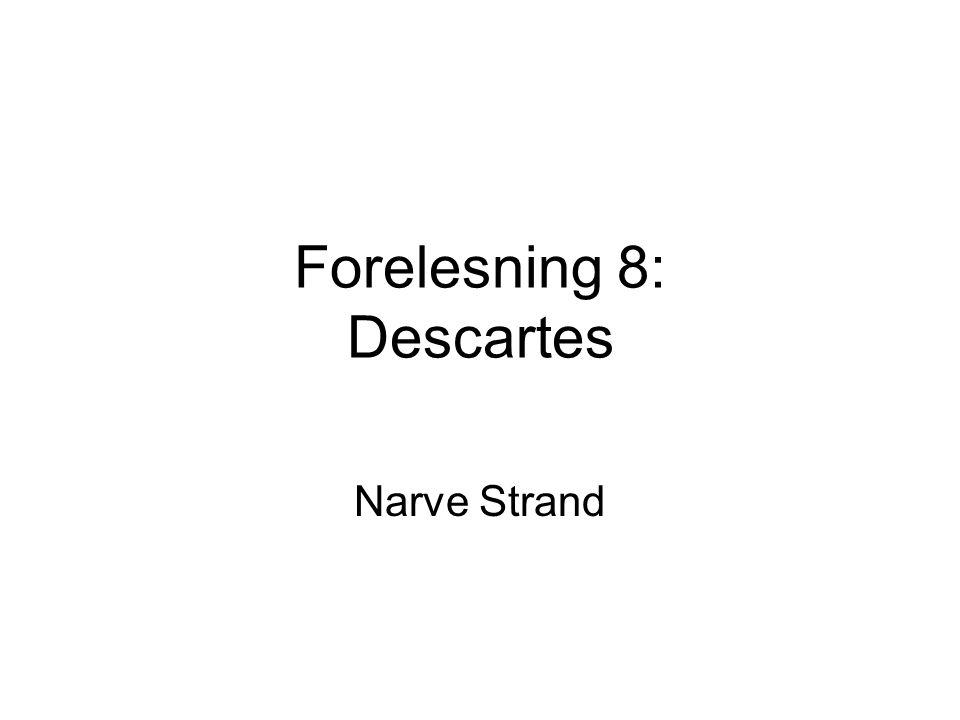 Forelesning 8: Descartes Narve Strand