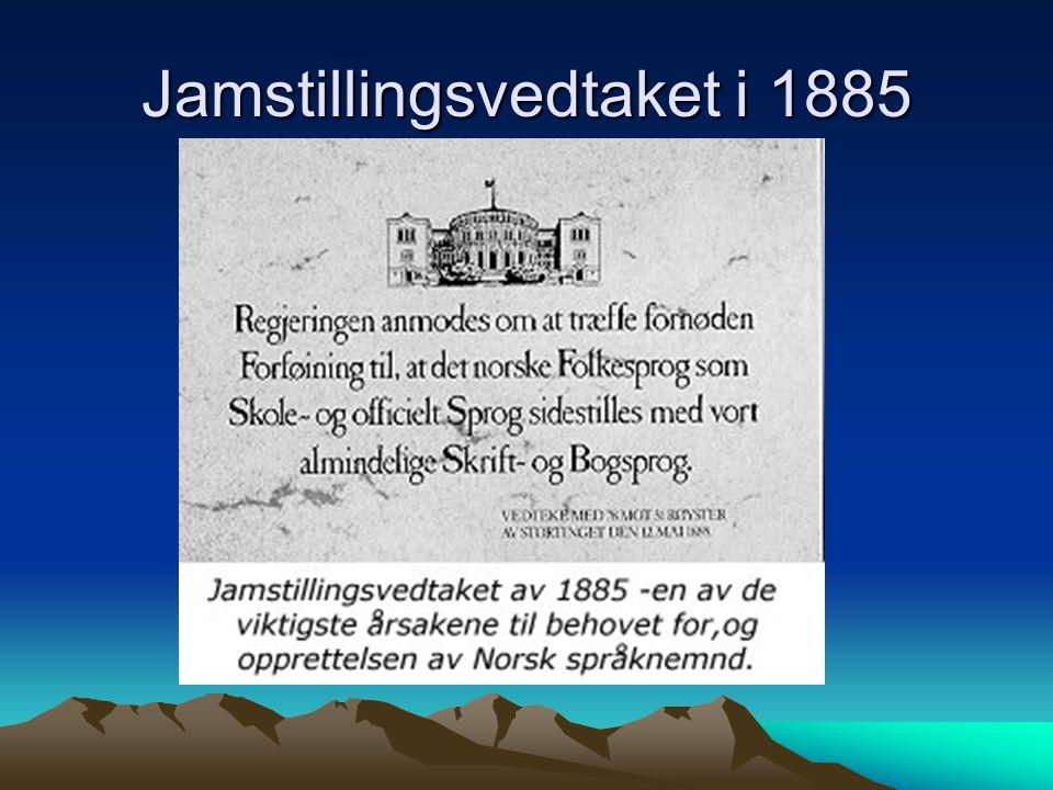 Norsk språknemnd 1951 - link http://norsknettskole.no/fag/ressurser/itstud/f uv/holein/sprnemnd.htm