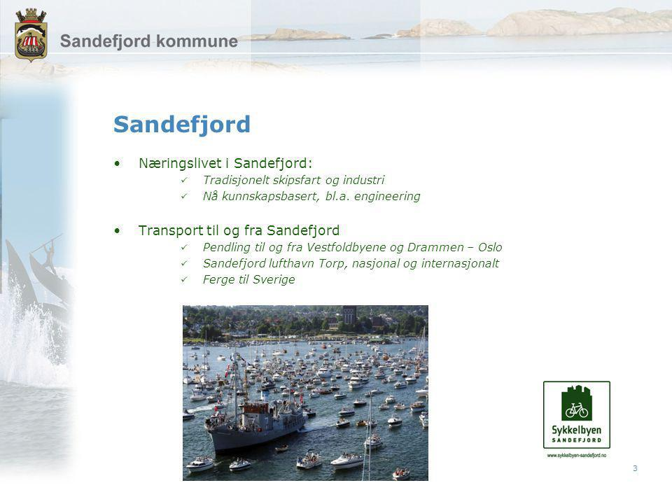 3 Sandefjord Næringslivet i Sandefjord: Tradisjonelt skipsfart og industri Nå kunnskapsbasert, bl.a.