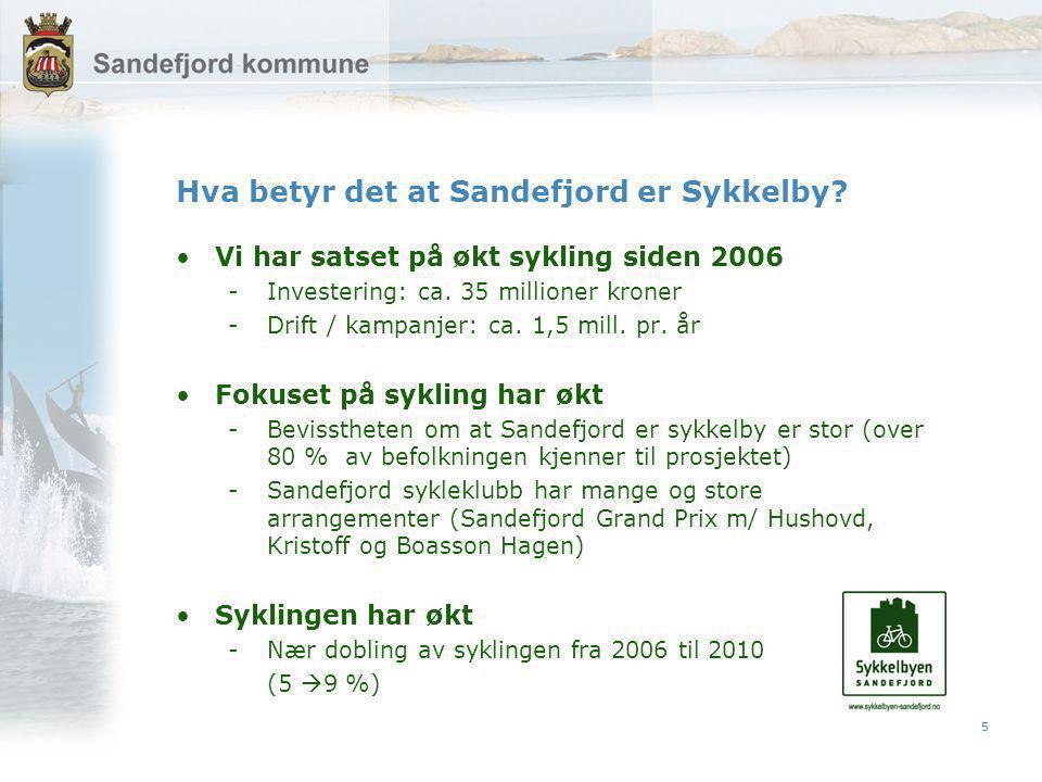 5 Hva betyr det at Sandefjord er Sykkelby.