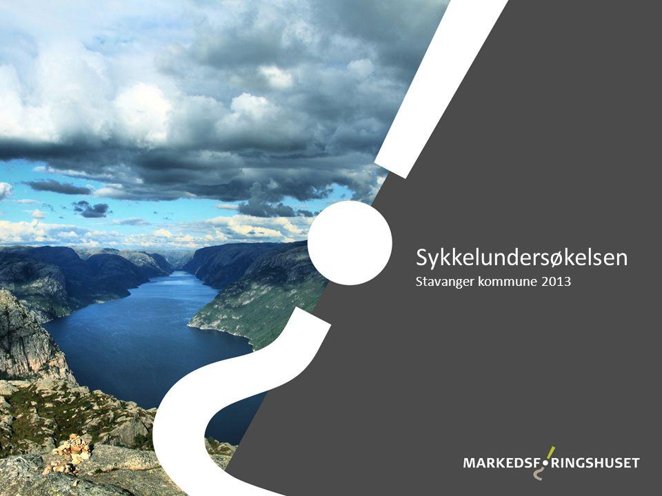 Sykkelundersøkelsen Stavanger kommune 2013
