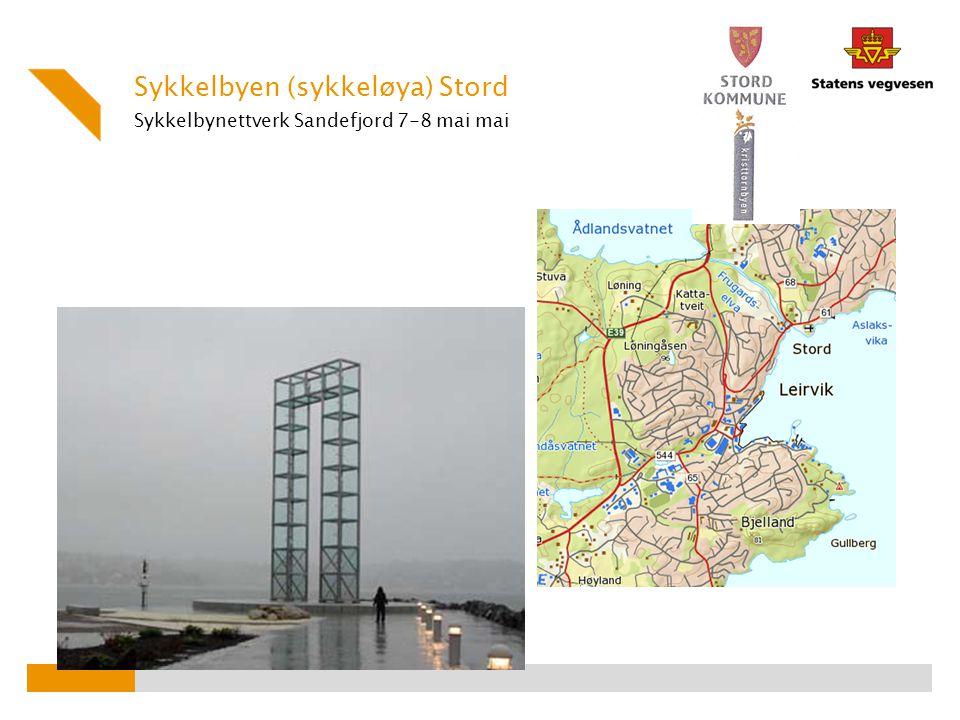 Sykkelbynettverk Sandefjord 7-8 mai mai Sykkelbyen (sykkeløya) Stord