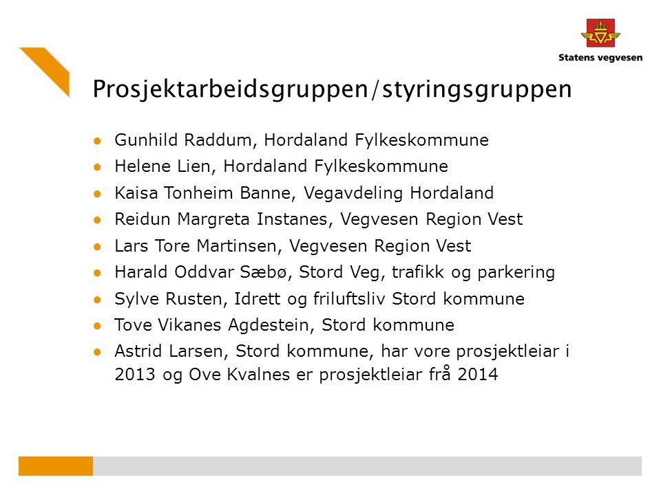 Prosjektarbeidsgruppen/styringsgruppen ● Gunhild Raddum, Hordaland Fylkeskommune ● Helene Lien, Hordaland Fylkeskommune ● Kaisa Tonheim Banne, Vegavde
