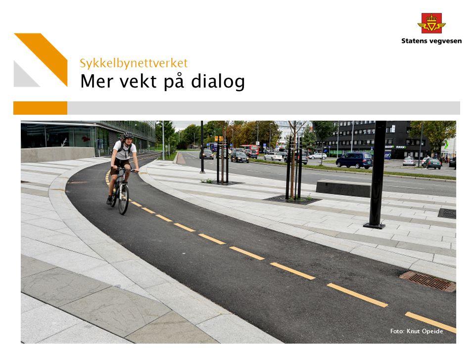 Mer vekt på dialog Foto: Knut Opeide Sykkelbynettverket