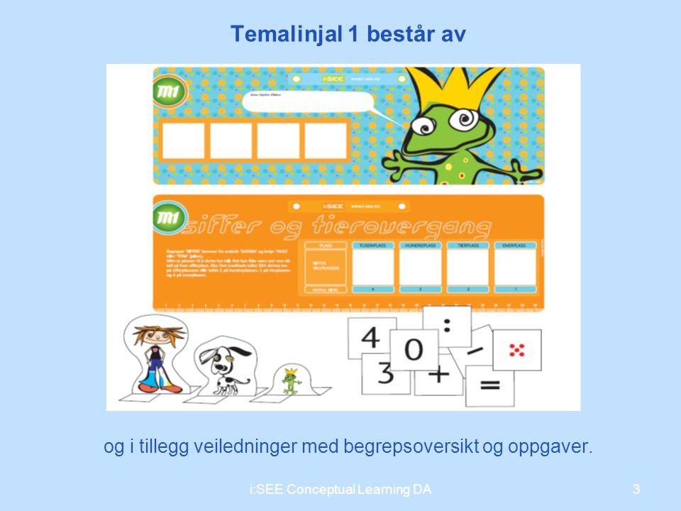 Temalinjal 1 består av 3 og i tillegg veiledninger med begrepsoversikt og oppgaver. i:SEE Conceptual Learning DA