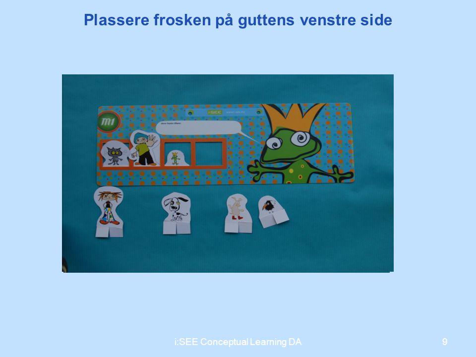 9i:SEE Conceptual Learning DA Plassere frosken på guttens venstre side