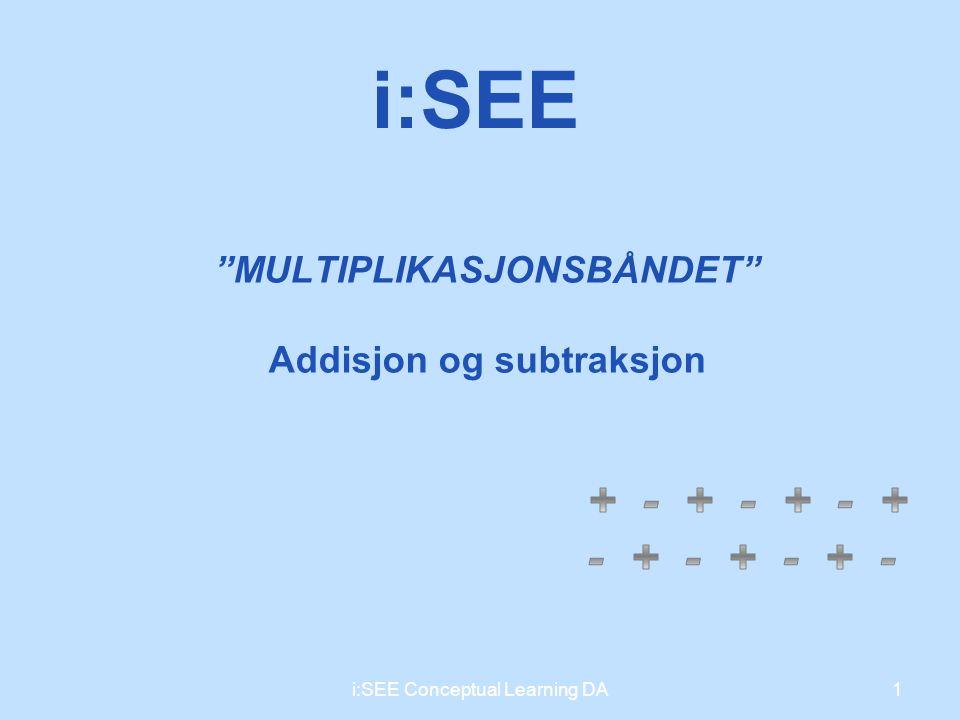 MULTIPLIKASJONSBÅNDET Addisjon og subtraksjon 1i:SEE Conceptual Learning DA i:SEE