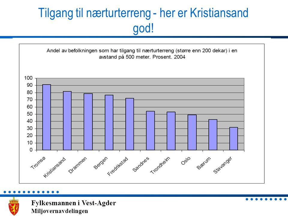 Fylkesmannen i Vest-Agder Miljøvernavdelingen Tilgang til nærturterreng - her er Kristiansand god!
