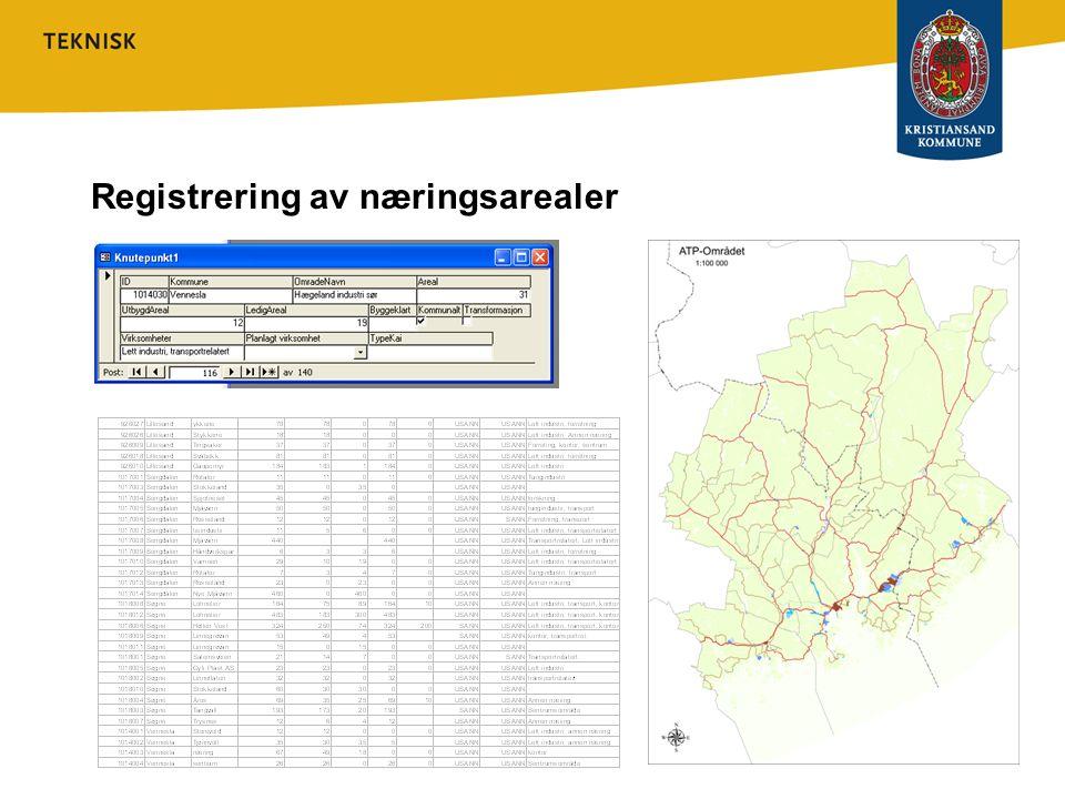 Registrering av næringsarealer