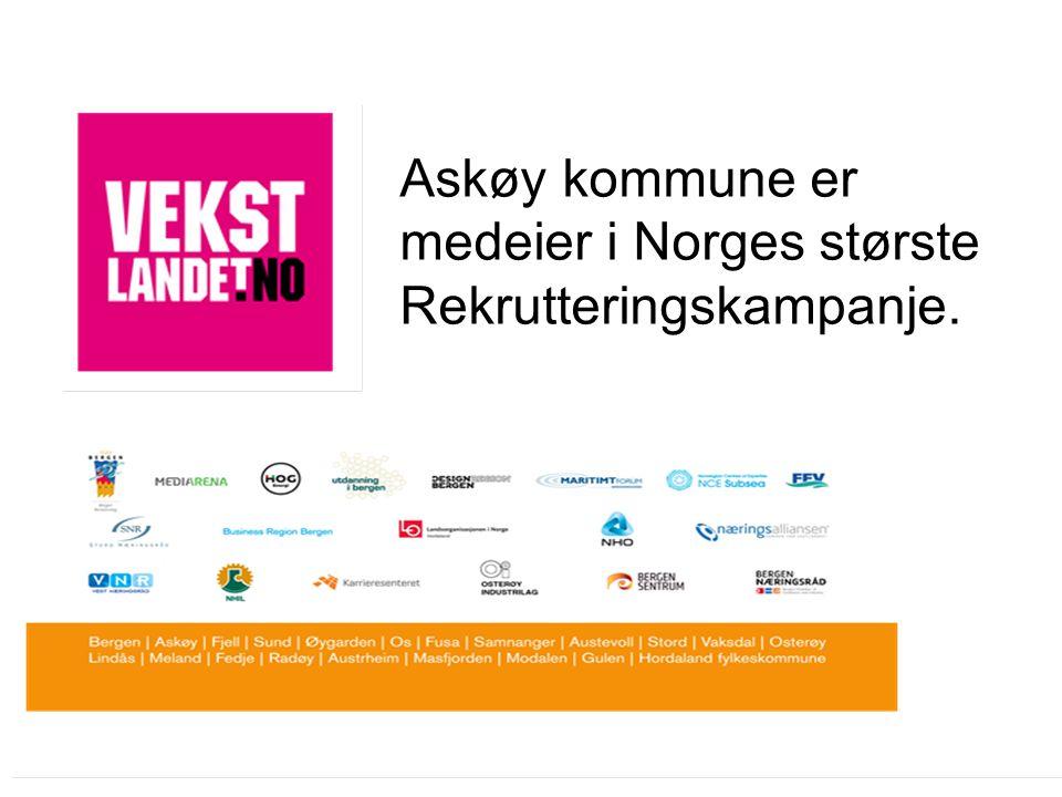 Askøy kommune er medeier i Norges største Rekrutteringskampanje.