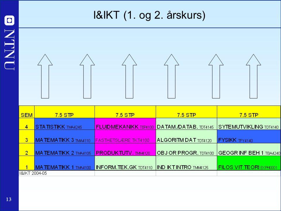 13 I&IKT (1. og 2. årskurs)
