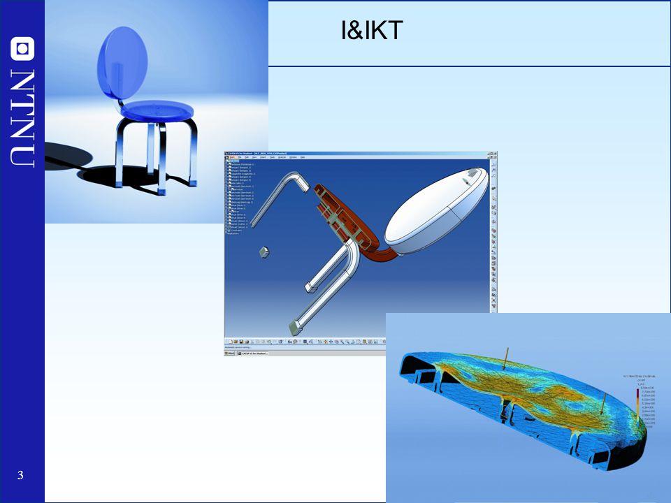 14 I&IKT Studieretninger: 1.Energi- og prosessteknikk 2.Geofag og petroleumteknologi (bassengmodellering, reservoarutvinning, seismikk) 3.Geomatikk 4.Konstruksjonsteknikk (beregningsmekanikk, generell konstruksjonsteknikk, geoteknikk, marin byggteknikk) 5.Marin teknikk 6.Produktutvikling og materialteknikk