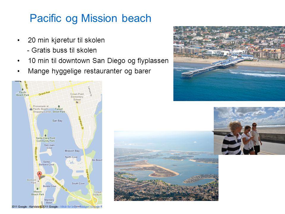 Pacific og Mission beach 20 min kjøretur til skolen - Gratis buss til skolen 10 min til downtown San Diego og flyplassen Mange hyggelige restauranter og barer