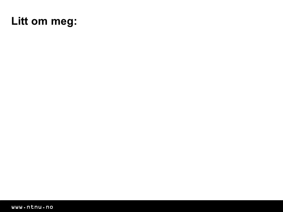 www.ntnu.no Eksamen