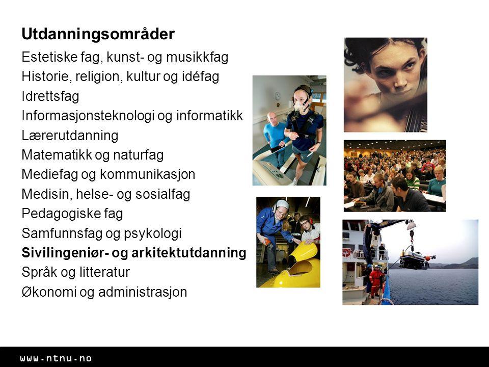 www.ntnu.no En av fem innbyggere i Trondheim er studenter Egen studentforening for hver linje Fantastiske fadderordninger Det runde røde huset – Studentersamfundet – sentrum for studentaktiviteter UKA, Norges største kulturfestival Trondheim- studentbyen