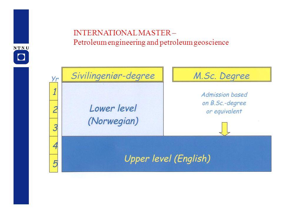 INTERNATIONAL MASTER – Petroleum engineering and petroleum geoscience
