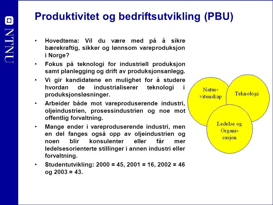 Produktivitet og bedriftsutvikling (PBU) Hovedtema: Vil du være med på å sikre bærekraftig, sikker og lønnsom vareproduksjon i Norge? Fokus på teknolo