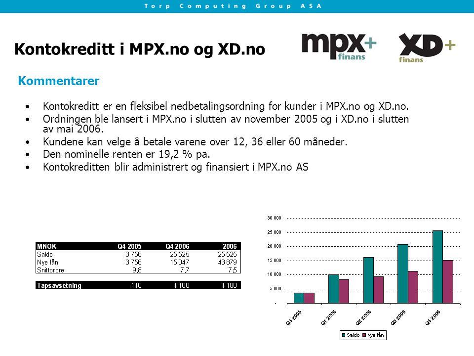 Kontokreditt i MPX.no og XD.no Kontokreditt er en fleksibel nedbetalingsordning for kunder i MPX.no og XD.no.