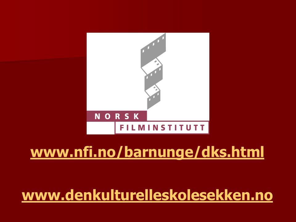 www.nfi.no/barnunge/dks.html www.denkulturelleskolesekken.no