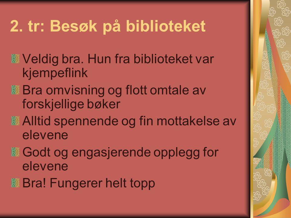 8.tr: Nils Aas kunstverksted Svært fornøyd med opplegget.