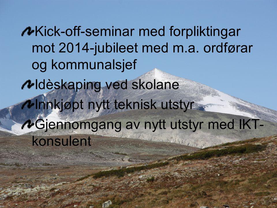 Kick-off-seminar med forpliktingar mot 2014-jubileet med m.a.