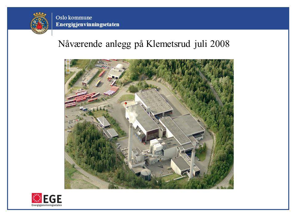 Oslo kommune Energigjenvinningsetaten Nåværende anlegg på Klemetsrud juli 2008