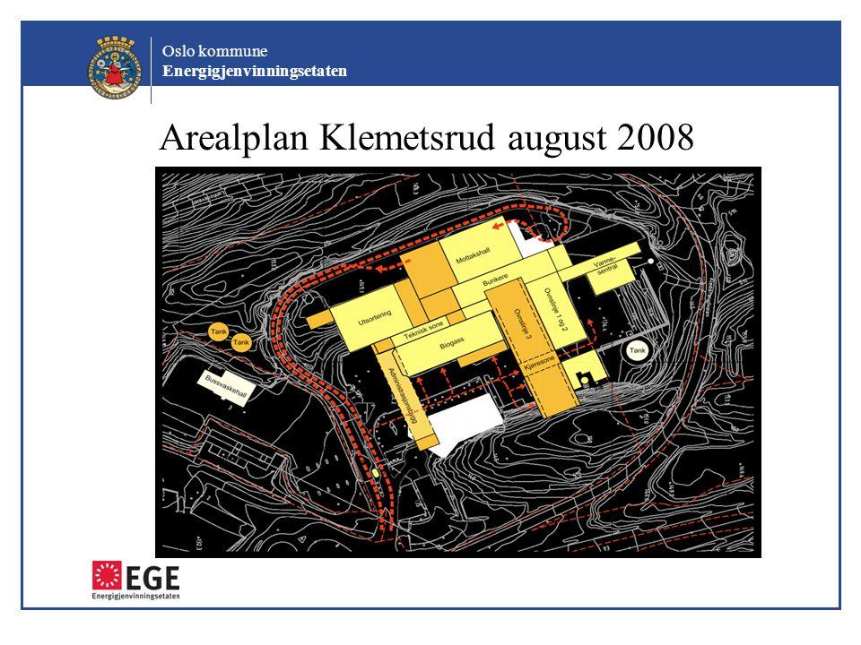 Oslo kommune Energigjenvinningsetaten Arealplan Klemetsrud august 2008 Anleggsveg
