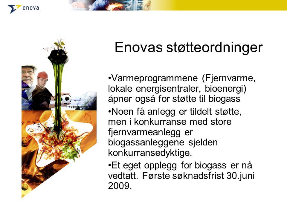 Teoretisk potensial for biogassproduksjon i Norge I tillegg: potensial fra skogsressurser ~ 20 TWh (beregnet i studien Fra biomasse til biodrivstoff – et veikart til Norges fremtidige løsninger, 2007)