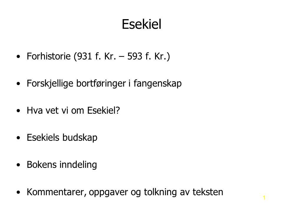 Esekiel Forhistorie (931 f.Kr. – 593 f.