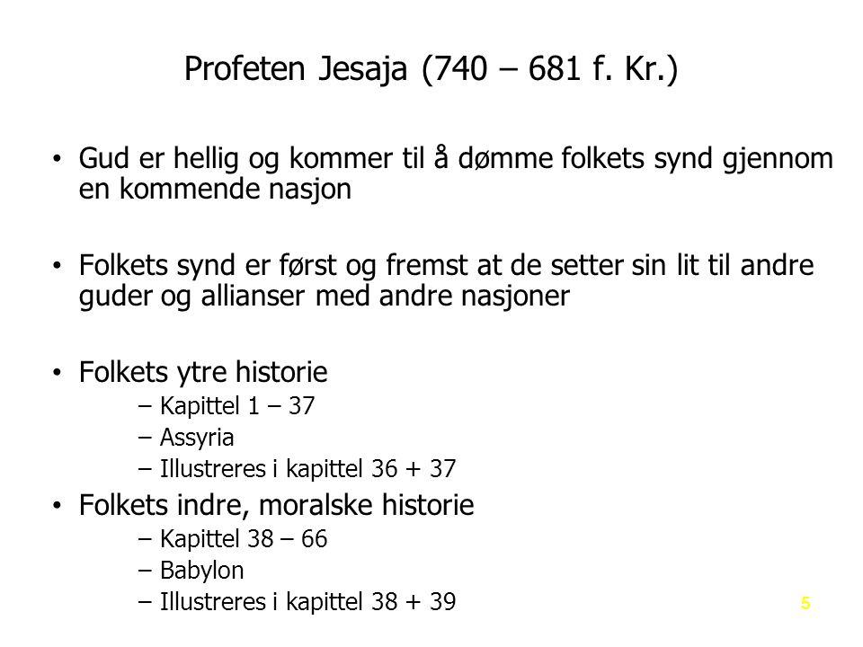 Profeten Jesaja (740 – 681 f.