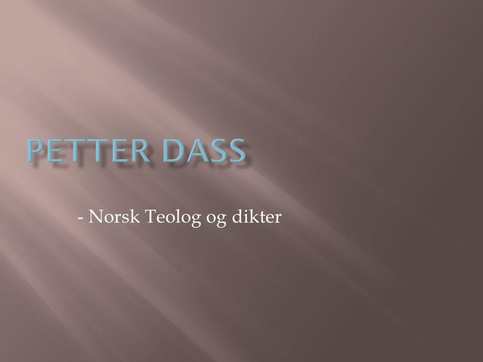 - Norsk Teolog og dikter