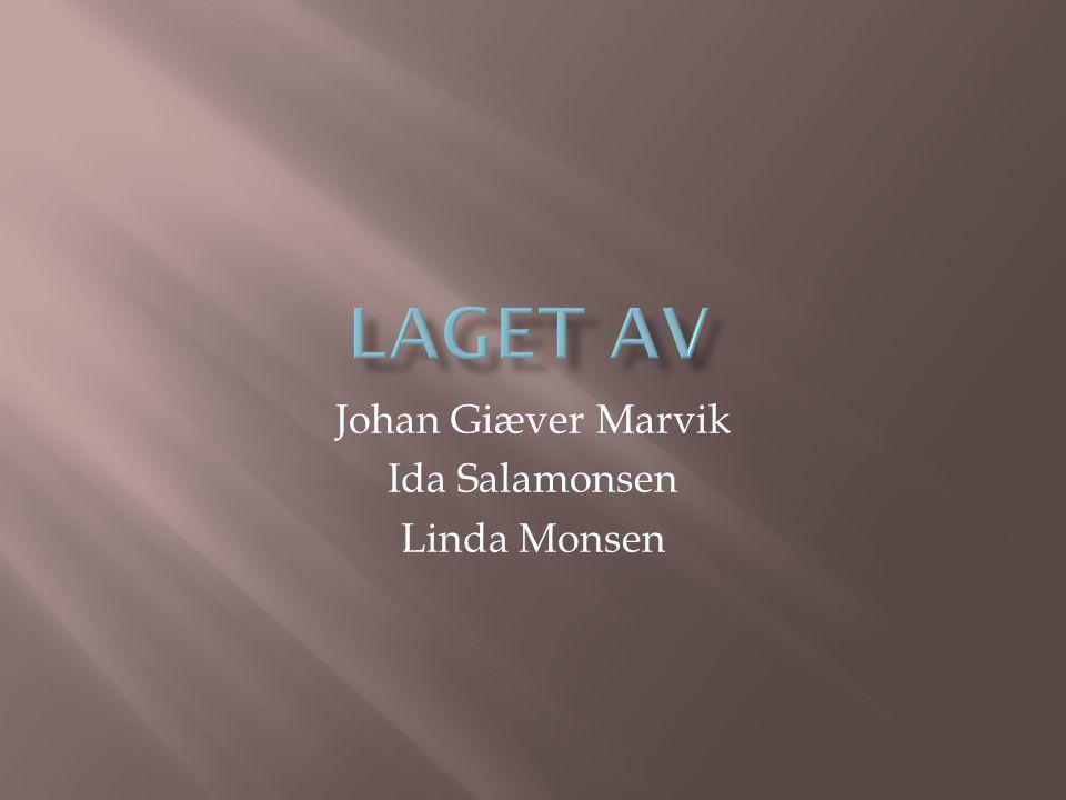 Johan Giæver Marvik Ida Salamonsen Linda Monsen