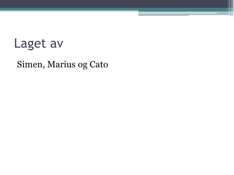 Laget av Simen, Marius og Cato
