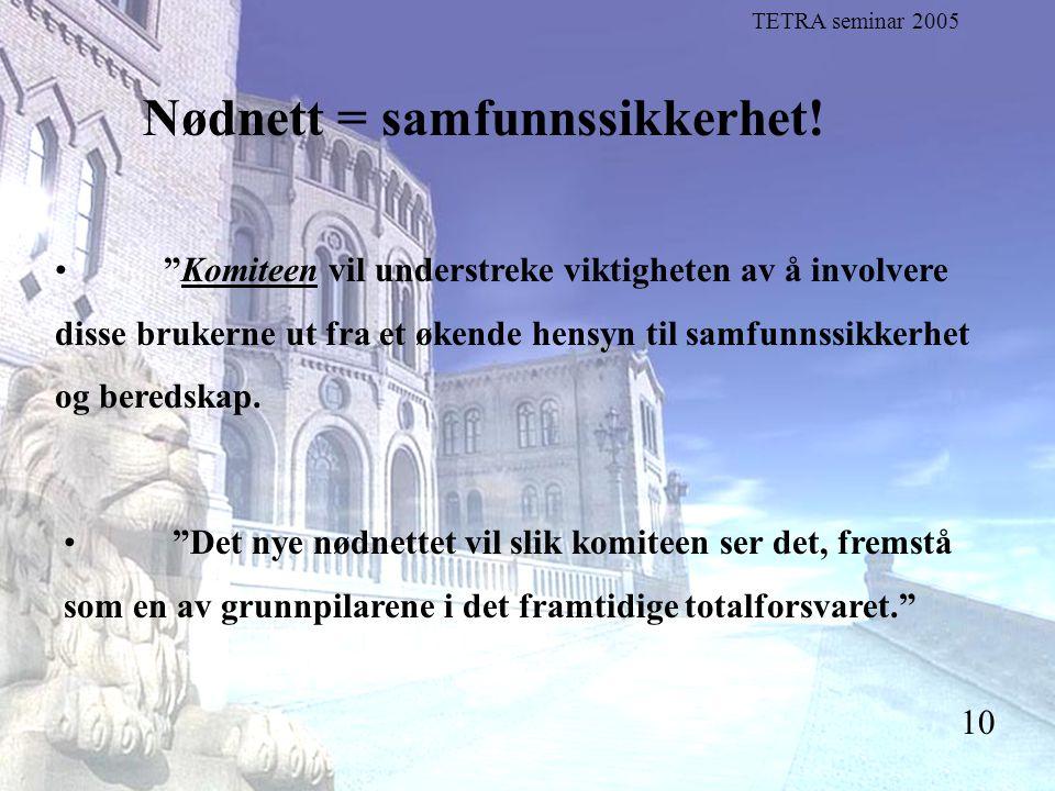 """Stortingsrepresentant Einar Holstad, KrF 10 Nødnett = samfunnssikkerhet! """"Komiteen vil understreke viktigheten av å involvere disse brukerne ut fra et"""
