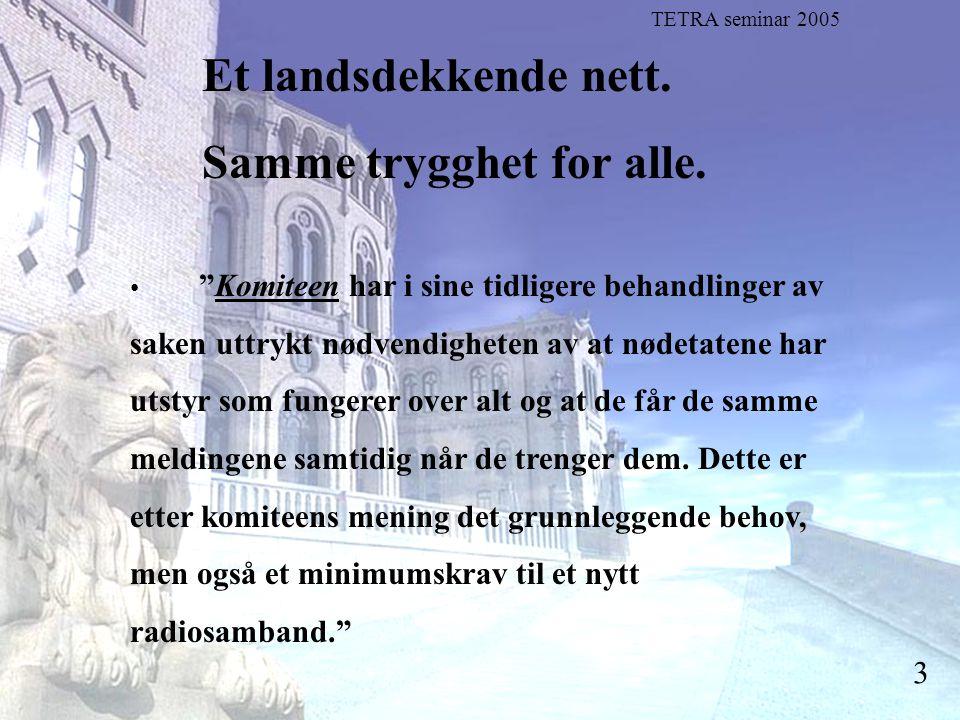 """Stortingsrepresentant Einar Holstad, KrF 3 Et landsdekkende nett. Samme trygghet for alle. """"Komiteen har i sine tidligere behandlinger av saken uttryk"""