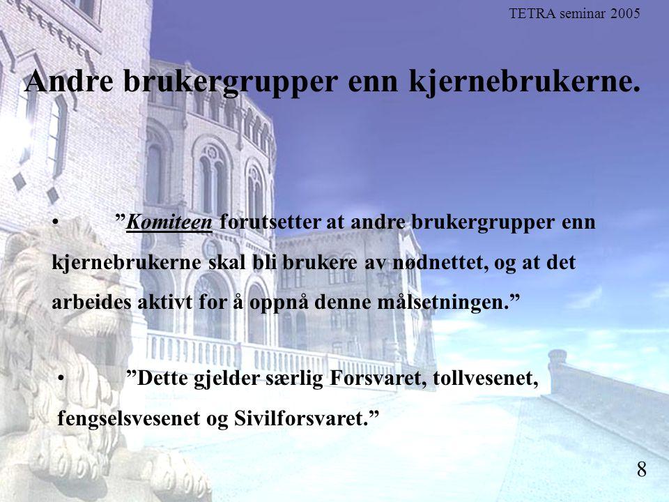 Stortingsrepresentant Einar Holstad, KrF 9 De frivillige organisasjonene er viktige å få med som brukere.