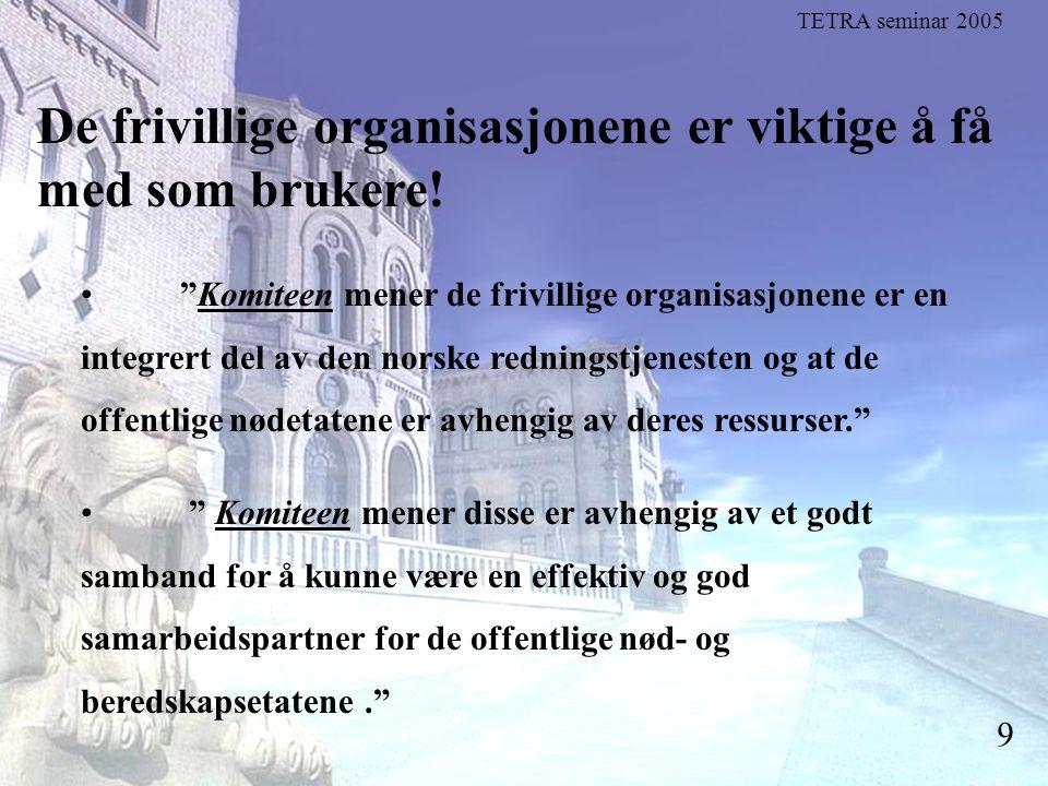 """Stortingsrepresentant Einar Holstad, KrF 9 De frivillige organisasjonene er viktige å få med som brukere! """"Komiteen mener de frivillige organisasjonen"""