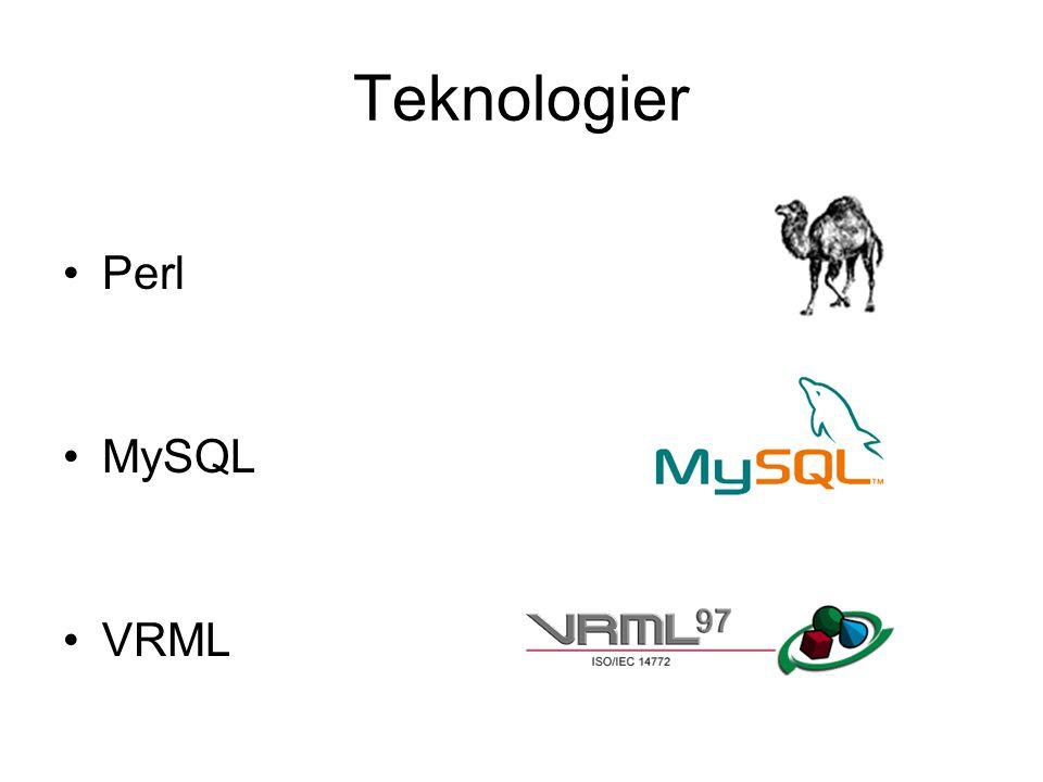 Teknologier Perl MySQL VRML