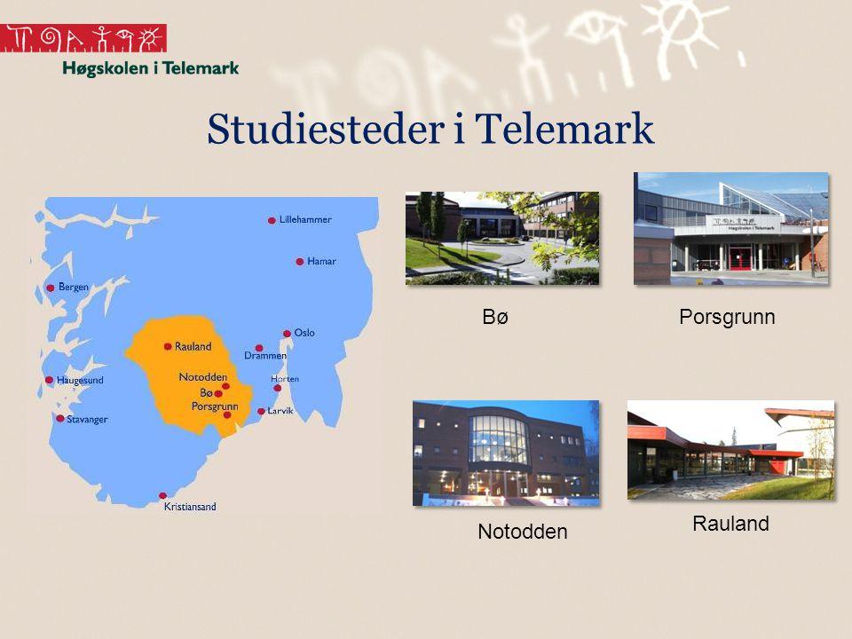 BøPorsgrunn Notodden Rauland Studiesteder i Telemark