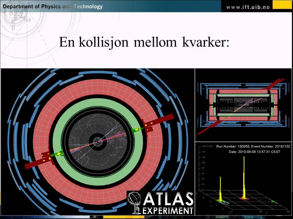 Normal text - click to edit En kollisjon mellom kvarker: