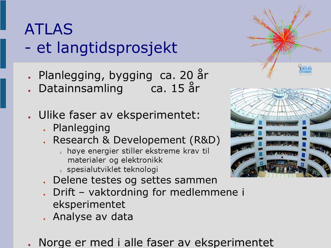 ATLAS - et langtidsprosjekt ● Planlegging, bygging ca.