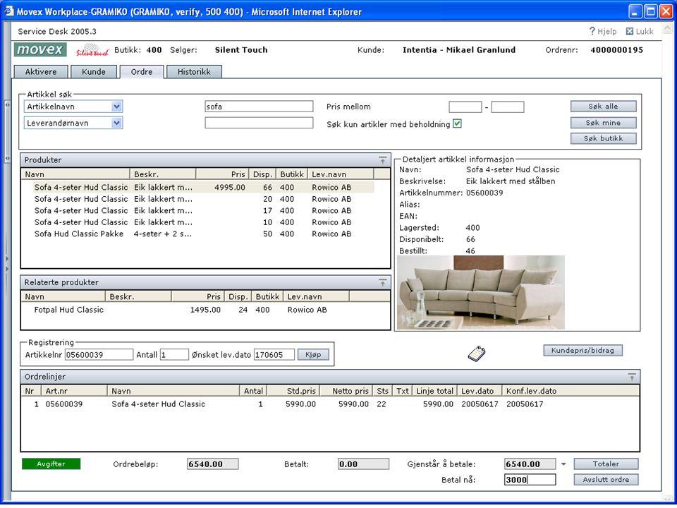 Order Om förskotts- eller slutbetalning skall ske så anges belopp i ruta 'Betal nå'.