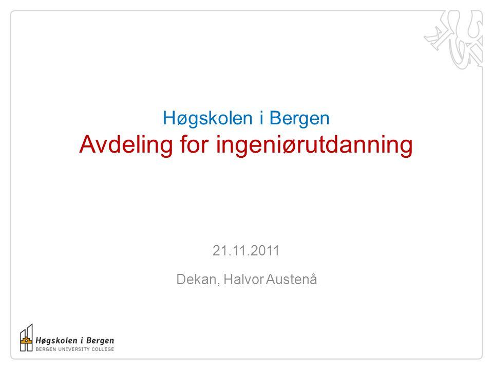 Utviklingen for antall primærsøkere ingeniørutdanning 2007 – 2011 (kun SO) HiB HiO HiST UiS Oslofjord (HiØ, HiV, HiBU) UiA